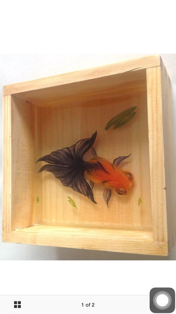 A personal favourite from my Etsy shop https://www.etsy.com/uk/listing/269150585/3-d-goldfish-hand-painting-in-the-resin
