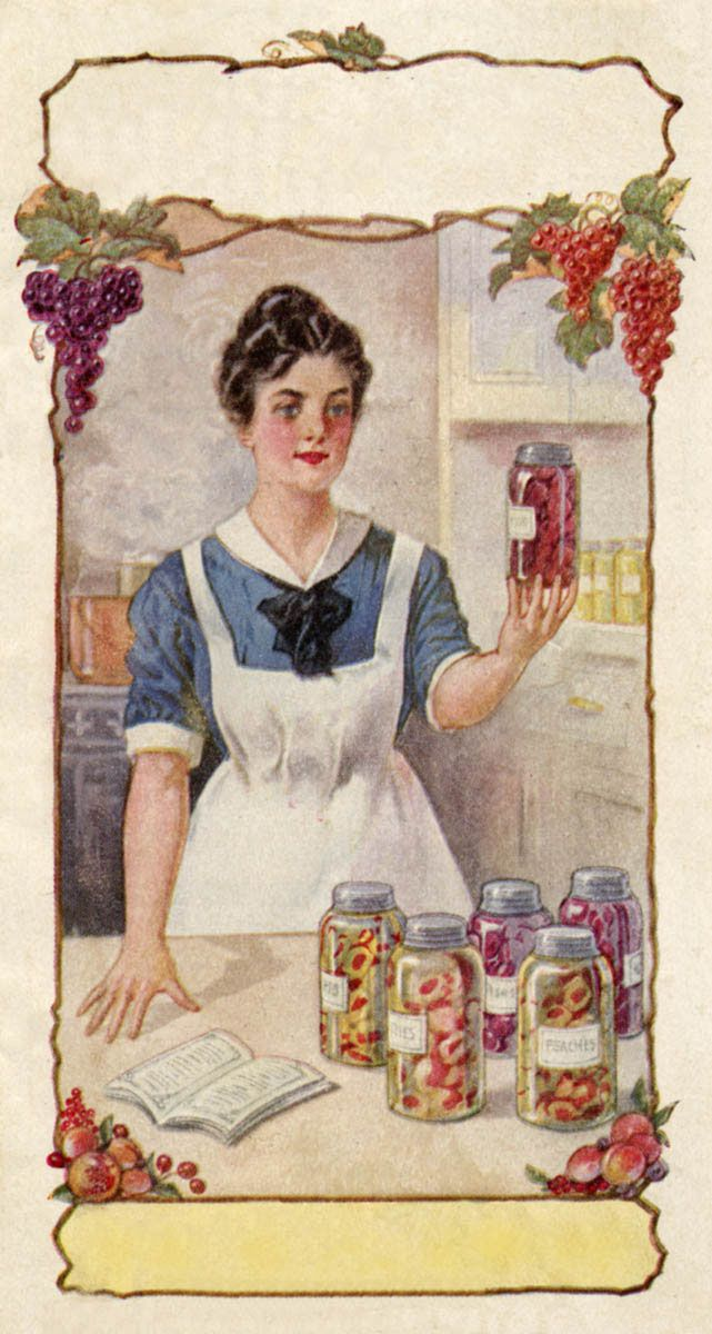 vintage image woman canning free printable