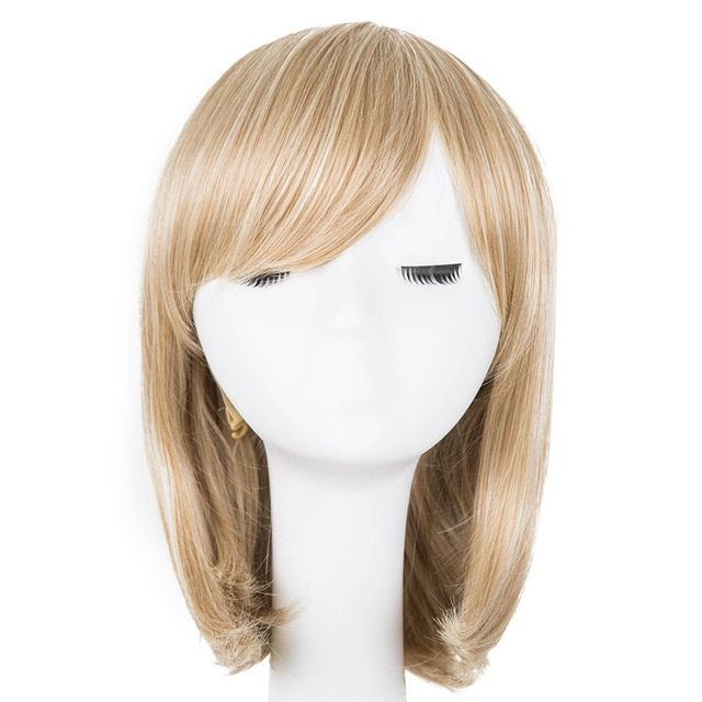 Hair Extensions & Wigs Black Bob Wig Fei-show Synthetic Heat Resistant Fiber Oblique Bangs Short Wavy Cosplay Halloween Carnival Hair Women Hairpieces Synthetic Wigs