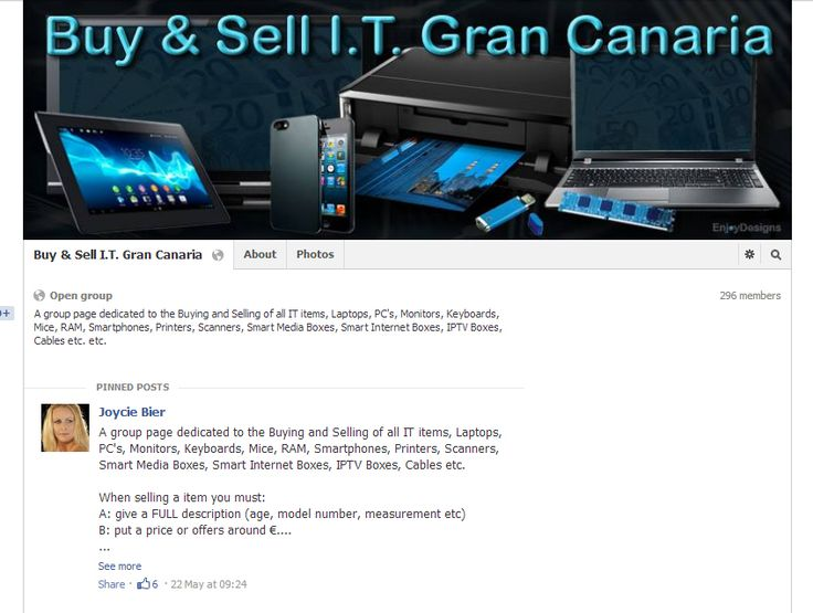 Buy & Sell I.T. Facebook Group / https://www.facebook.com/groups/449618788465332 by www.enjoydesigns.net