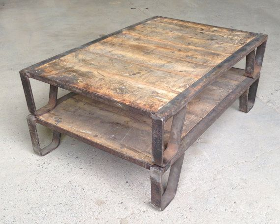 Vintage Industrial Coffee Table Pallet By Auroramills On Etsy Industrial Revolution