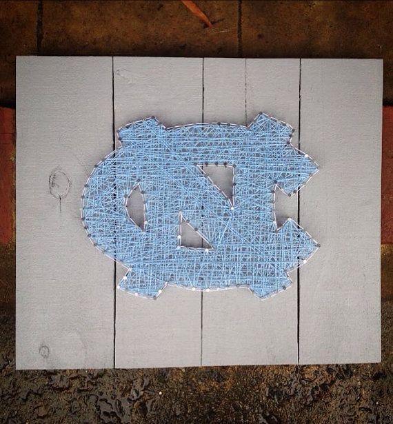 Custom String Art - UNC Tar Heels logo - University of North Carolina at Chapel Hill