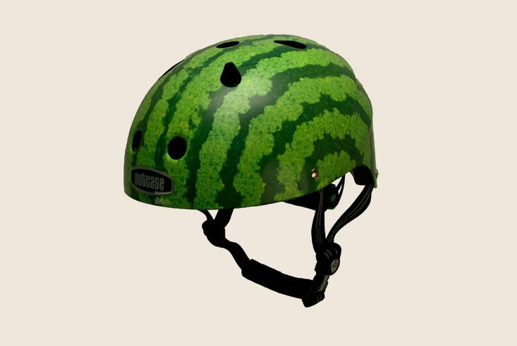 heehee. watermelon helmet for little ones.