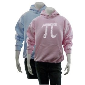 Women`s Pink PI Hoodie M - Created using the first 100 digits of PI $34.99