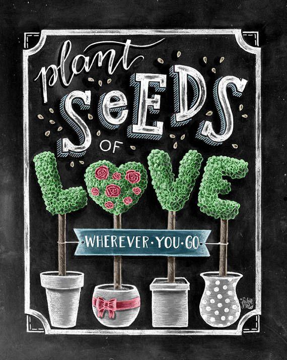 Semillas de amor que amor favores de la boda semilla crecer