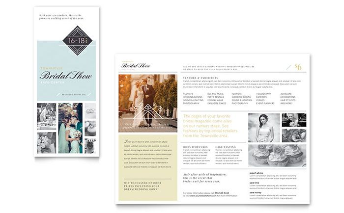 Bridal Show Tri Fold Brochure Template Design by StockLayouts