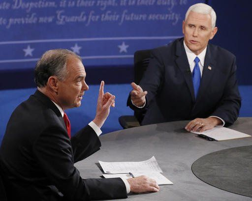 So this happened… Over and Over and over…. If Senator Kaine wasn't interrupting Governor Pence, the moderator was interrupting him… ...