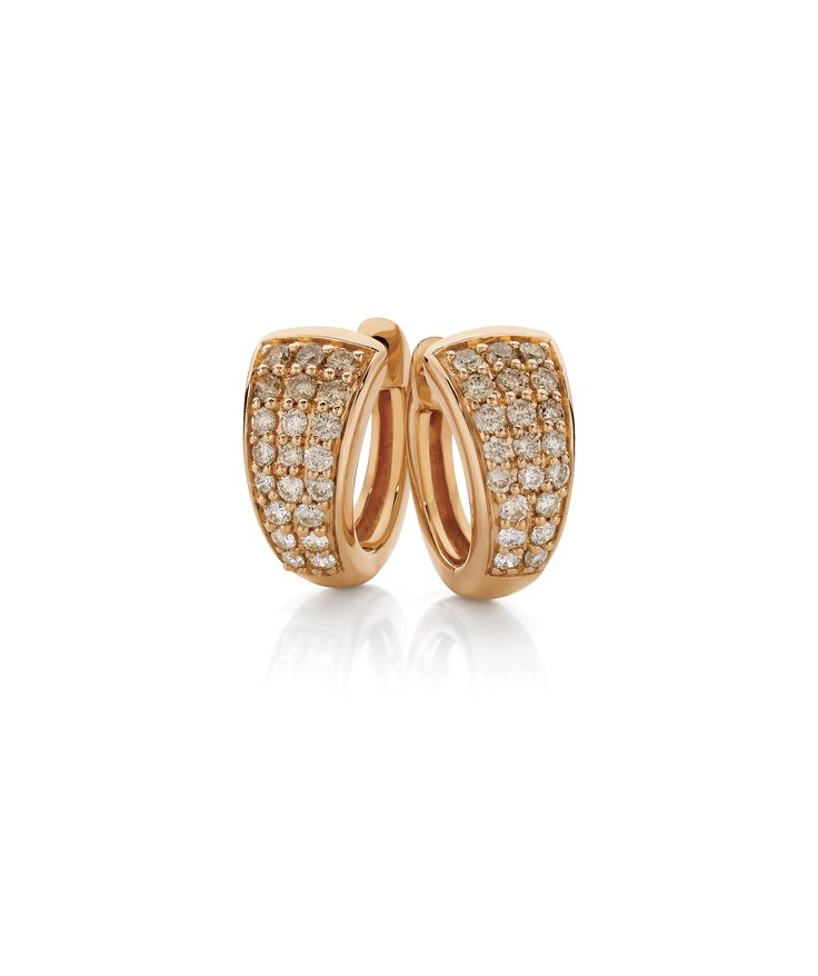 Glow with these stunning 9ct Rose Gold Huggie Earrings by Dreamtime, 0.50ct Graduated Diamond