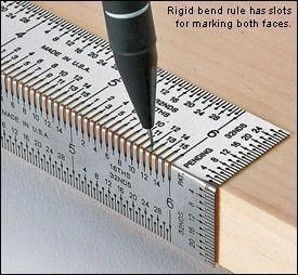 A perforated ruler for accurately measuring wood before cutting. #WoodCraftsIdea…