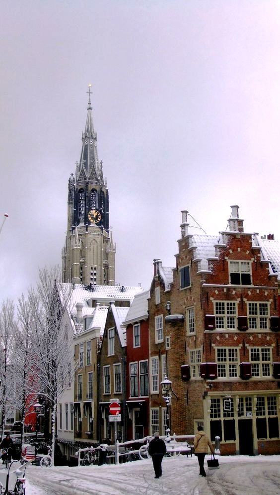 Delft is a city and a municipality in the Netherlands. It is located in the province of South Holland, to the north of Rotterdam and south of The Hague. Those winter days