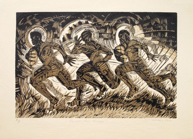 Michel Tuffery, Fitu Openside, woodcut and embossing on 215 x 285 mm paper, from an edition of 17, 2011. NZ$600 incl GST framed; NZ$450  incl GST unframed.