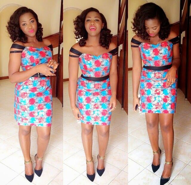 Ankara Short Gown Design
