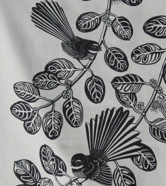 Fantail bird Tea towel by melinamartin on Etsy, $22.00