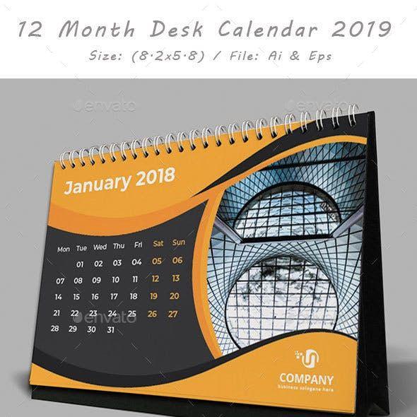 Desk Calendar 2019 Desain Papan