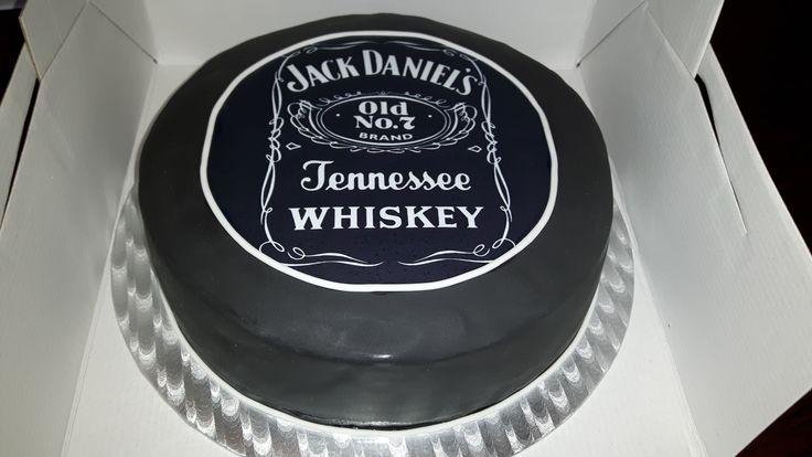 Jack Daniels taart.