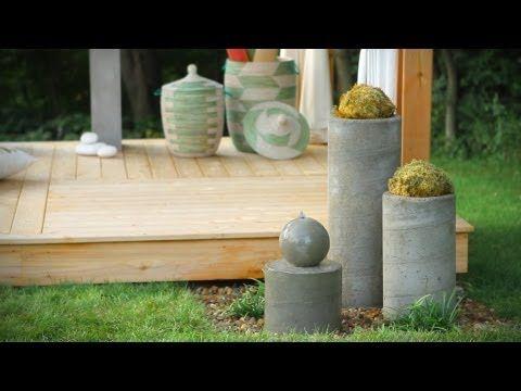 how to build a concrete fountain base
