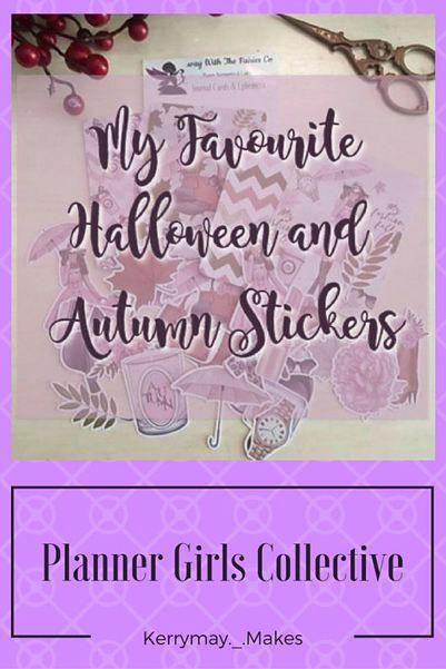 My Favourite Halloween  Autumn Planner Stickers, Printables