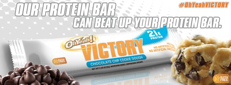 The OhYeah! Victory bar contains 21g protein, 20g fiber & just 8g net ...