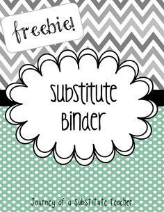Free editable substitute binder #bts13 #teacher #bts