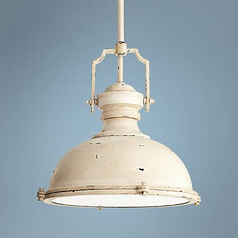 Featuring authentic-looking wear, this mini-pendant light was inspired by vintage industrial and farmhouse styles.