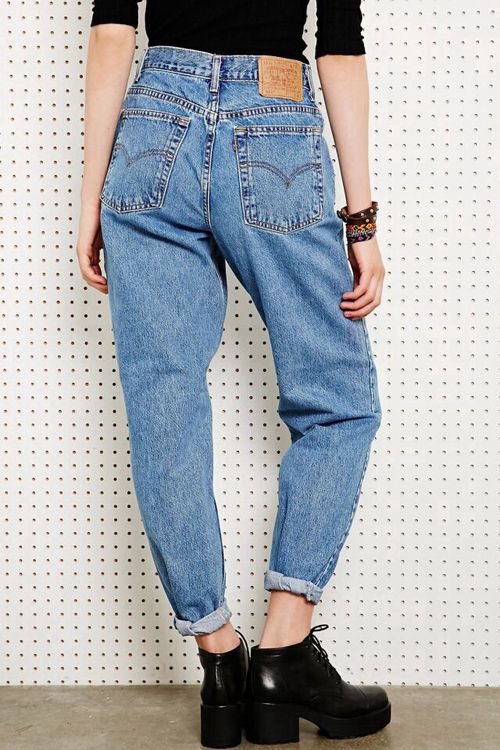 2. Your mom's style   just bought a pair of mom jeans, trying to figure out how to wear them.