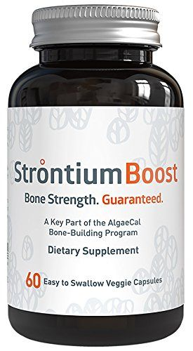 Natural Strontium Citrate Supplement - Strontium Boost (60 Capsules) - All-Natural Ingredients and Scientifically Proven To Support Bone Density Improvement - Easy To Swallow Veggie Capsules  Strontium Boost by AlgaeCal is the ONLY Strontium Citrate supplement in the market that has human clinical studies that are published and peer-reviewed by two prominent journals (Pubmed and Nutritional Journal) to prove its safety and efficacy in bone health.  If you are actively trying to increas...