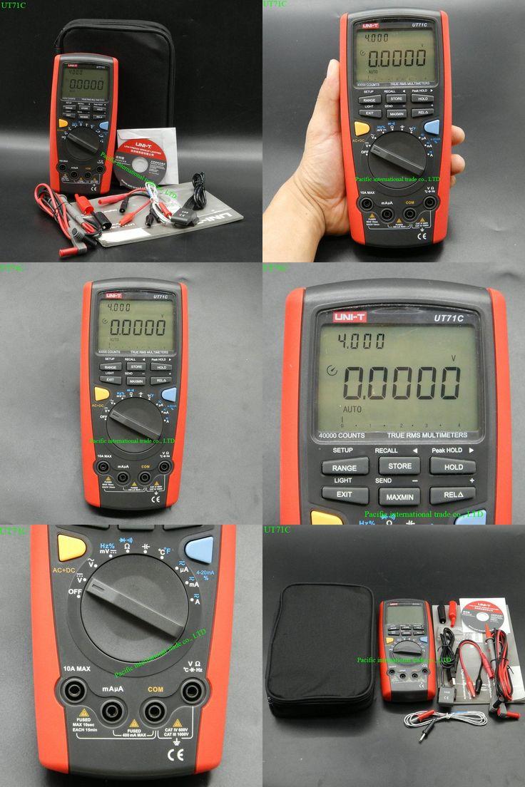 [Visit to Buy] professional Intelligent LCD Digital MultiMeter UNI-T UT71C  AC DC  Volt Ampere Ohm Capacitance Temp Meter #Advertisement