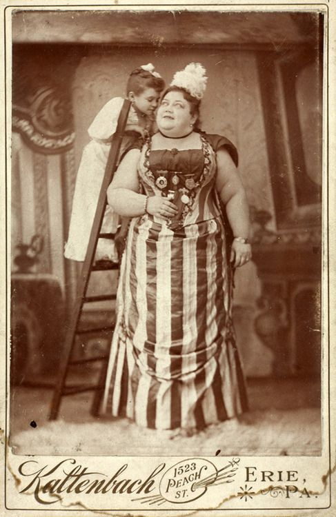 Circus Performers 1890. Pinning it because Erie is where I was born :D