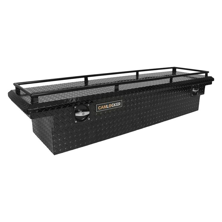 uws tool box with top rail. cam-locker® - matte black low profile single lid crossover tool box with rail uws top h