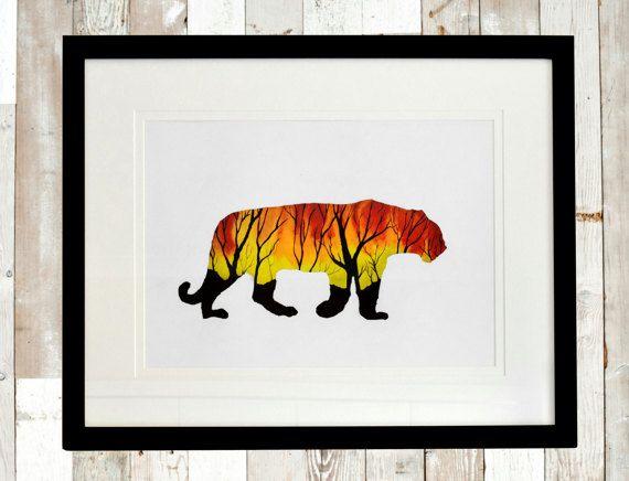 Home decor art print, Wall art, Art Print, Abstract wall art print, Wall decor print, nature print, animal print, animal painting, Tiger art
