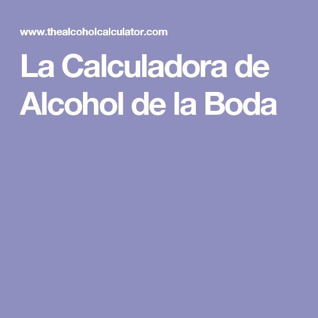 La Calculadora de Alcohol de la Boda