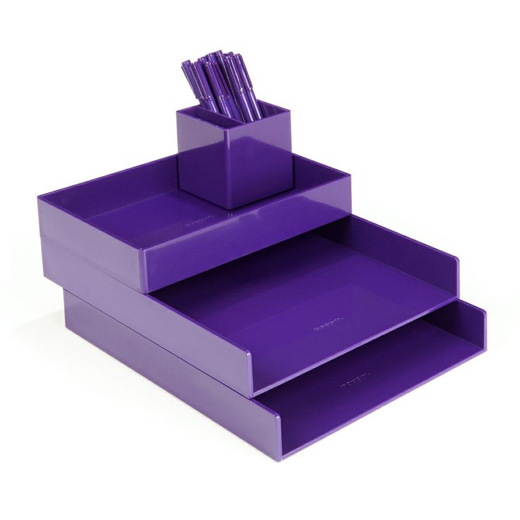 Wonderful Purple Office Supplies  Purple Desktop Set | Desk Accessories | Poppin