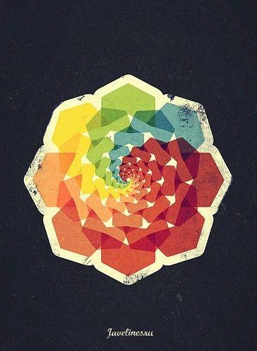 colors, ffffound, floral, geometric, graphic design, illustration