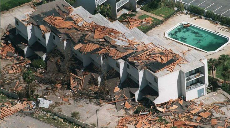 1995 - Hurricane Opal Dates active: September 27 - October 6 Peak classification: Category 4 Sustained wind speed: 150 mph (240 km/h) Areas affected: Guatemala, Yucatán Peninsula, Eastern United States Deaths: 59 Damage: $514 million (Pictured) A heavily damaged hotel sits along the Panama City Beach coastline on Oct. 5, 1995, after Hurricane Opal pounded the Florida Panhandle late on Oct. 4, 1995.