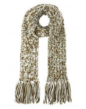 karen walker chunky knit scarf khaki NZ $60 at www.preciouspeg.com
