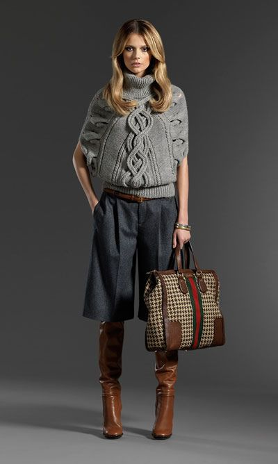 For the winter, culottes by Gucci. Love it!