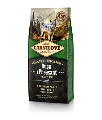 Carnilove Duck & Pheasant for Adult Dogs. CARNILOVE Duck Pheasant is a Grain-free and Potato-free formula that is suitable for adult dogs of all breeds.