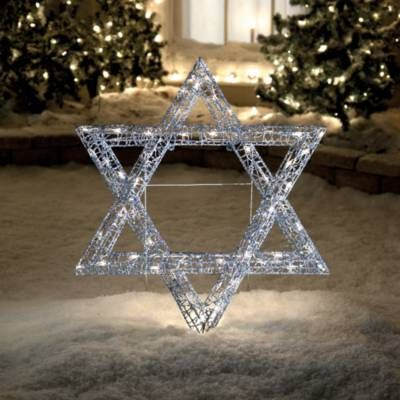 This beautiful Star of David lights up and is filled with 50 miniature bulbs. Suited for indoor and outdoor use itu0027s made out of a sturdy metal frame and ... & 130 best Hanukkah Wonderland 2017 images on Pinterest | Wonderland ...