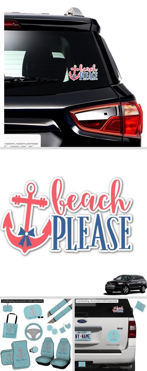 Chic Beach House Graphic Car Decal Chic Beach House Car Decals Car Personalization [ 1515 x 600 Pixel ]