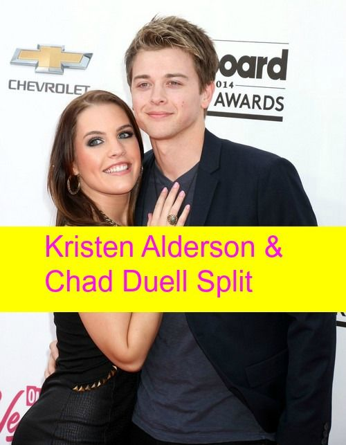 """General Hospital"" (GH) spoilers are in and it is splitsville for a real-life soap couple. Chad Duell and Kristen Alderson met on the set of the ABC soap opera"