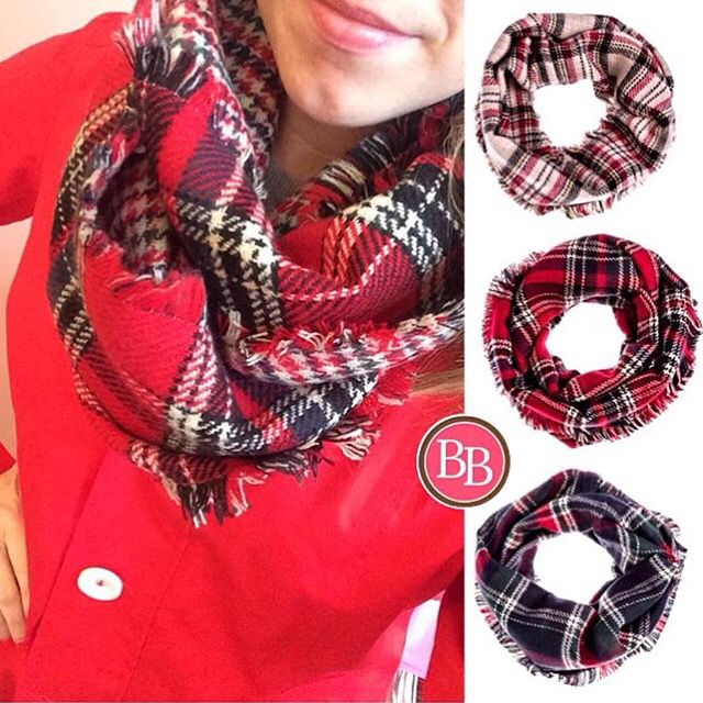 Plaid scarves are the hottest trend this season!! Like our Plaid Fringe Infinity Scarf! • $24.95 • These have been restocked again and again ladies!! #BBGirls #plaidscarves #plaid #infinityscarves #fallfashion {brandisboutiqueshop.co}