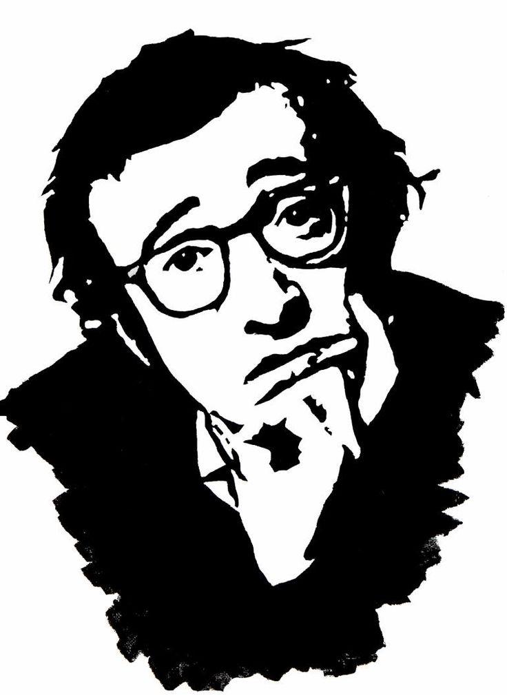 "Saatchi Art Artist Edita Malenko; Painting, ""Woody Allen"" #art"