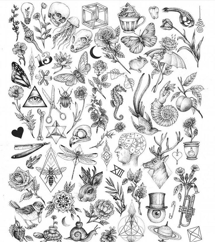 Pretty Tattoo Filler Tattoo Flash Sheet Cute Tiny Tattoos
