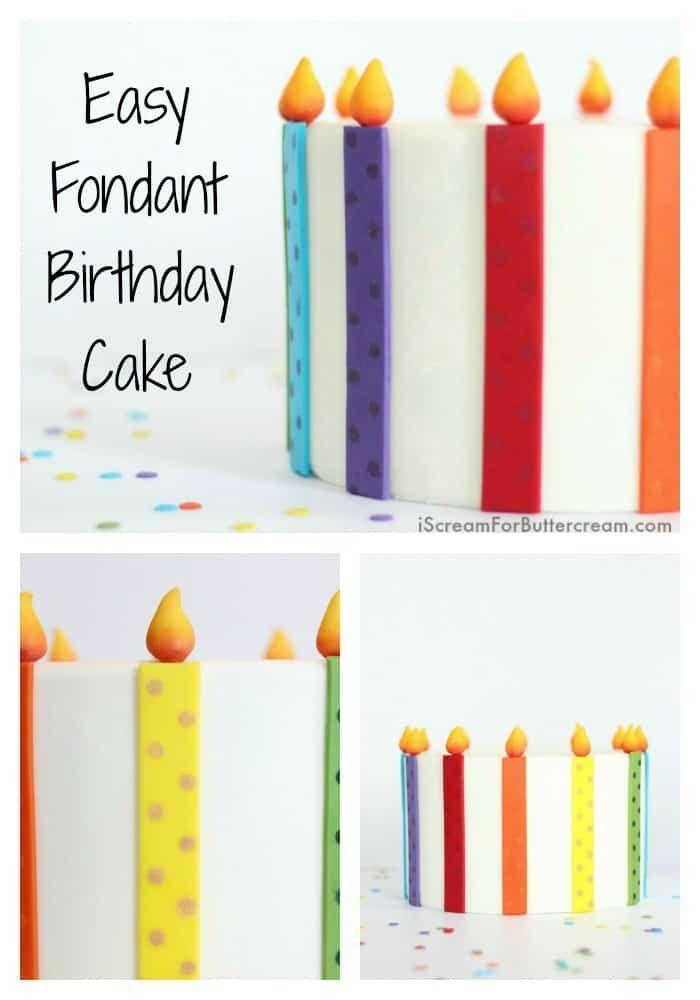 Wenn Sie gerade erst anfangen, mit Fondant zu arbeiten, ist dieser einfache Fondant-Geburtstag …   – Fondant Work