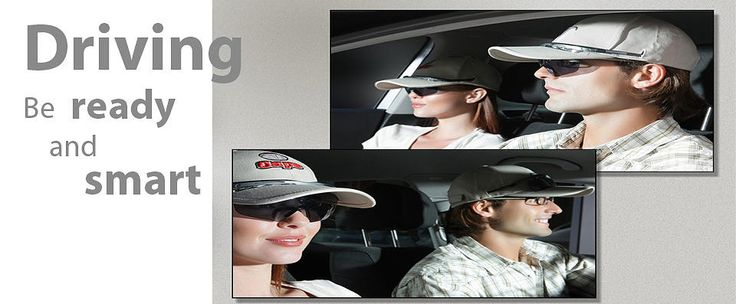 Keeping your eyes on the road while wearing the TCap instead of digging around for your sunglasses while your driving