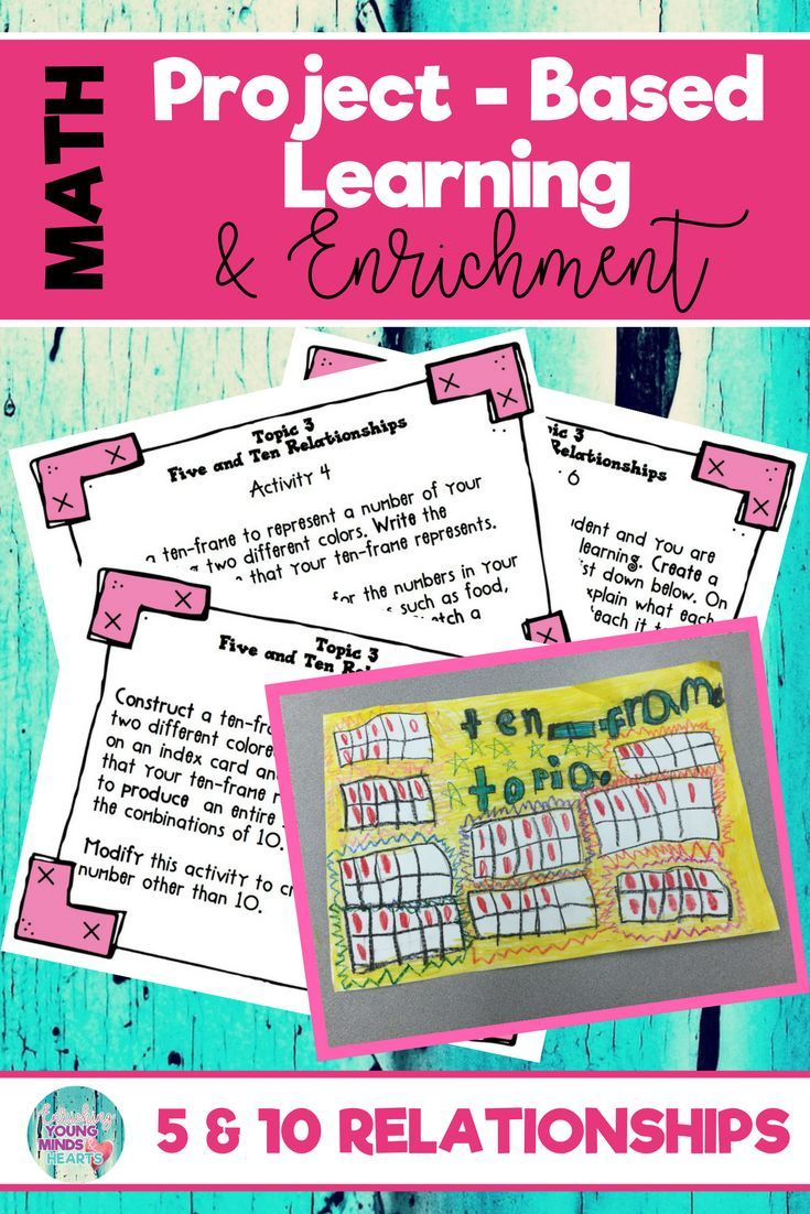 Math Project Based Learning Enrichment For Five And Ten