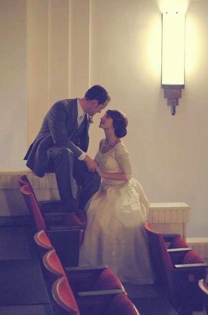 wedding photos in a movie theatre? i think so!
