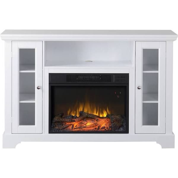 white electric fireplace tv stand for the home