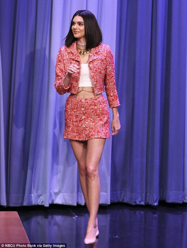 Kendall Jenner opts for a sophisticated Chanel suit on Tonight Show