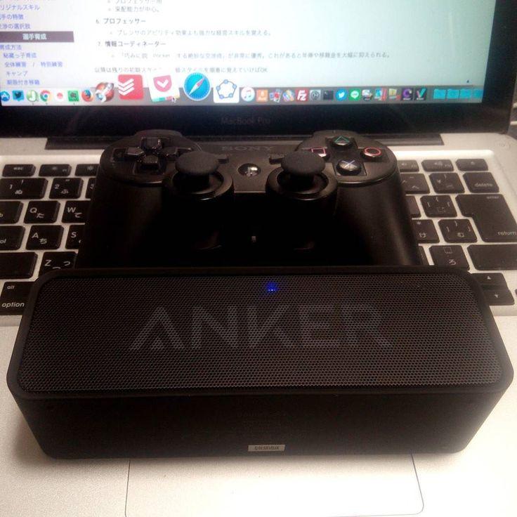 Anker @anker_jp のBluetoothスピーカー来た ちっちゃい3000円にしては音質いいこんなにいいものなんですねもっと早く買えば良かった いい買い物しました